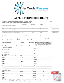 Credit Application