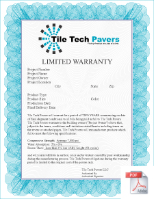 Concrete Paver Warranty