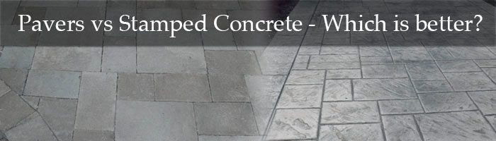 Stamped Concrete vs. Pavers