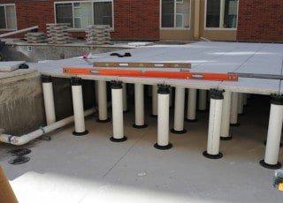 Raised Deck On Pedestal Pavers