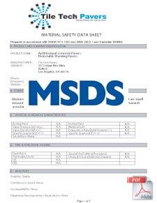 Paver MSDS Info