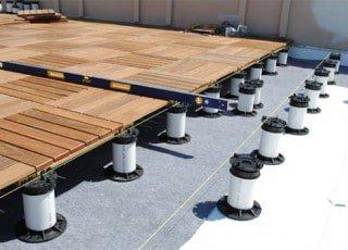 Ipe Wood Deck Tiles On Pedestals