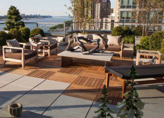 IPE Wood Tiles & Concrete Pavers