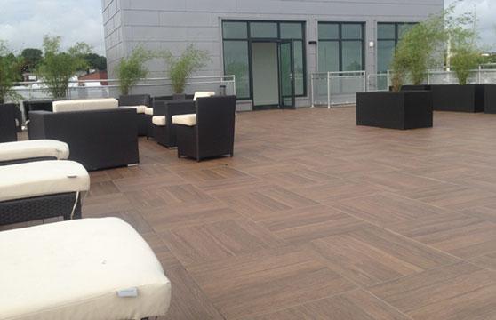 Mocha-Plank-Porcelain-Pavers-Roof-Deck