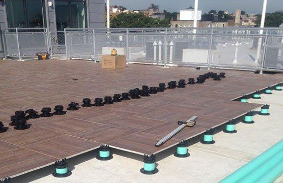 Mocha-Plank-Porcelain-Pedestal-Pavers-Roof-Deck