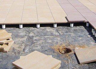 Pedestal Pavers & Roof Drain