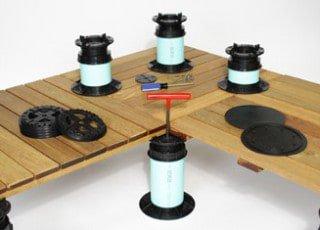 Deck Pedestals & IPE Deck Tiles