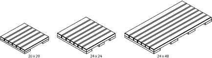 IPE Deck Tile Sizes