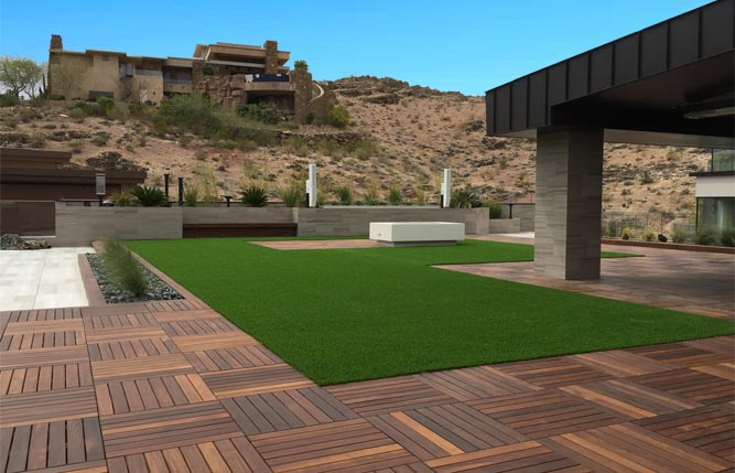 Versa Synthetic Turf Tile Tech Pavers 174