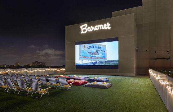 New Hotel Features Roof top Synthetic Grass Movie Theatre