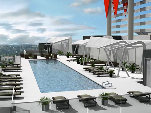 Hotel Rooftop Deck Pedestals