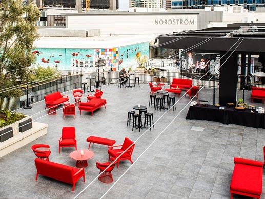 Mall Rooftop Terrace Pedestal Pavers