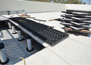 Wind Uplift Paver Tray on Pedestals