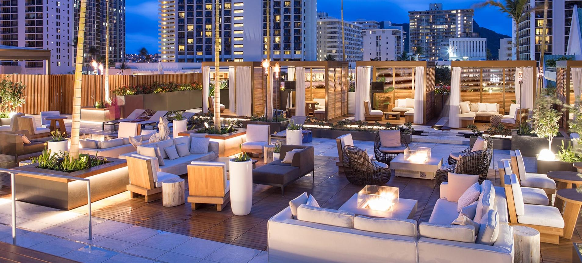Alohilani Resort IPE-Wood & Porcelain Pavers for Rooftop Deck
