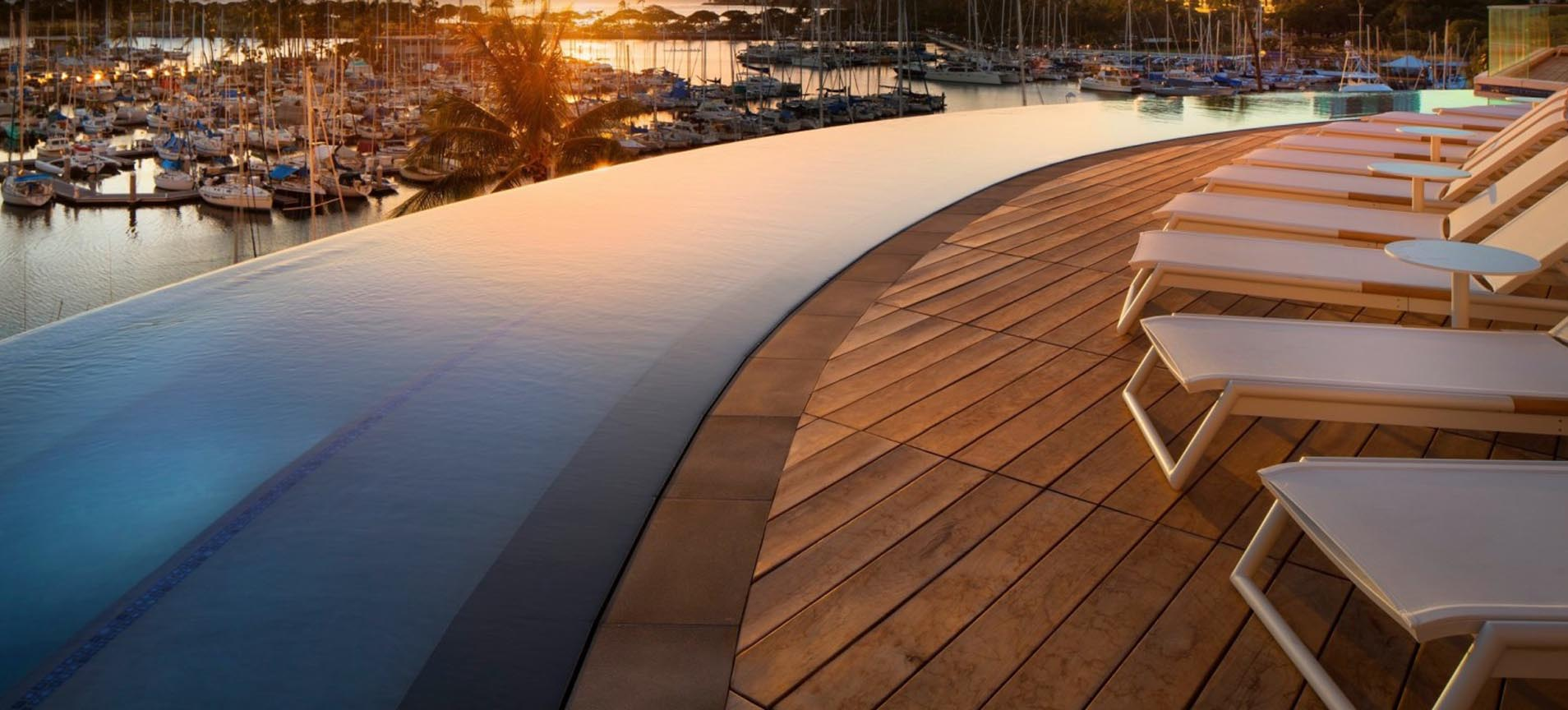 Flagstone Hardscape Alternatives: IPE Wood Deck Tiles & Concrete Pavers