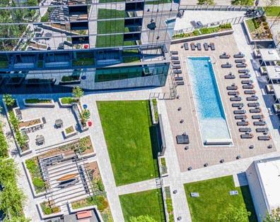 Amenity Pool Deck - 414 Light St Apartments