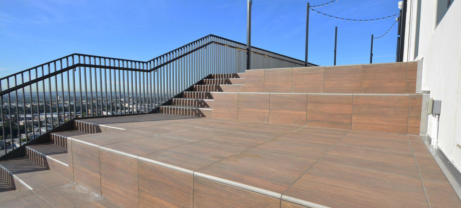 Netflix Campus Rooftop Deck Tile Tech Pavers 174