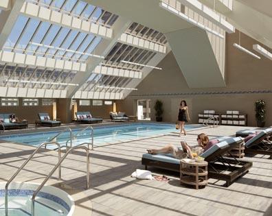 Indoor Pool Deck - Hotel NIkko